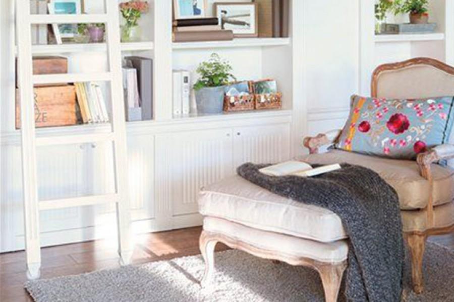 Ideas para instalar una zona de lectura en el salón